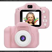 Детский цифровой фотоаппарат Smart Kids Cam, детская фото камера игрушка для девочки, Розовый
