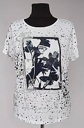 Женская футболка «Natalia Butterfly» большого размера
