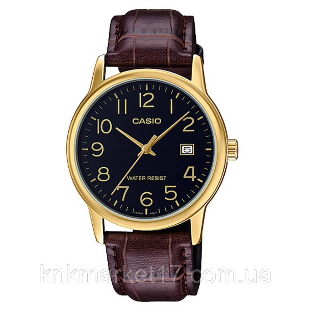 Casio MTP-V002GL-1BUDF Brown-Gold-Black