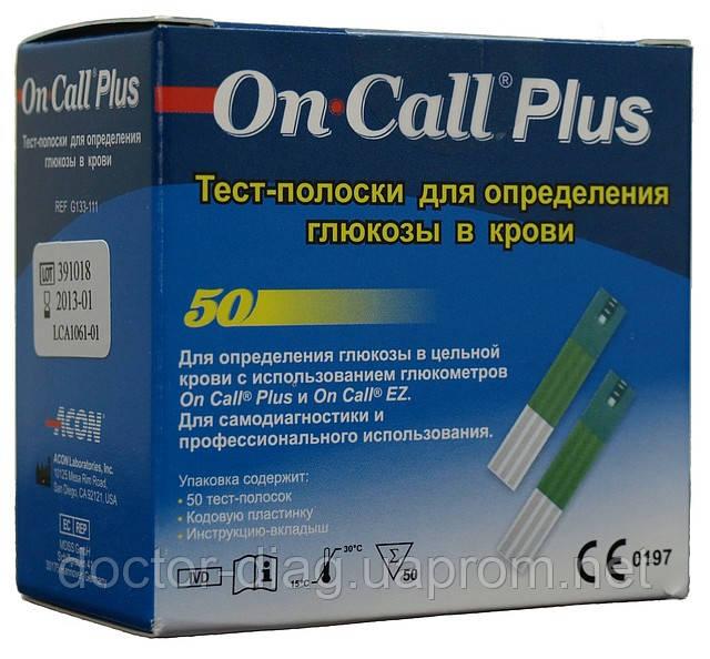 Acon Тест-полоски On-Call Plus №50