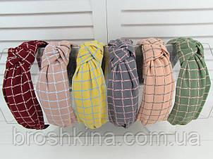 Обідок Чалма основа пластик/текстиль 6 шт/уп.