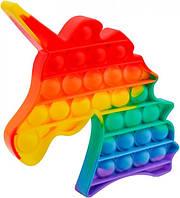Антистресс игрушка Pop It Единорог Фигурки силиконовый Поп Ит Push Up Bubble вечная пупырка