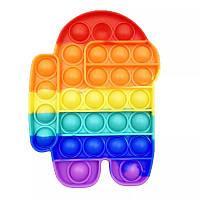 Антистресс игрушка Pop It Амонг Ас Фигурки силиконовый Поп Ит Push Up Bubble вечная пупырка