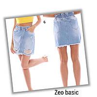 """Спідниця-баггі жіноча джинсова ZEO BASIC, рванка, розміри 34-40 """"JeansStyle"""" купити оптом в Одесі на 7км"""