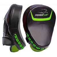 Боксерські лапи PowerPlay 3041 PU Black/Green (PP_3041_Green)