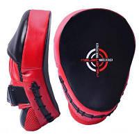 Боксерські лапи PowerPlay 3041 PU Black/Red (PP_3041_Red)