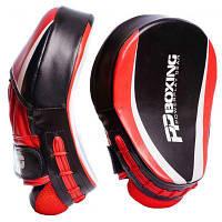 Боксерські лапи PowerPlay 3050 PU Black/Red (PP_3050_Red)