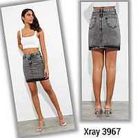 """Спідниця жіноча джинсова XRAY на блискавці розміри 26-31 """"JeansStyle"""" недорого від прямого постачальника"""