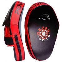 Боксерські лапи PowerPlay 3051 PU Black/Red (PP_3051_Red)