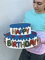 Коробка для подарка Happy birthday в форме торта