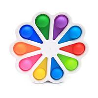 Вечная бесконечная пупырка Pop It Simple Dimple Цветок Rainbow Spot Push Pop Bubble Fidget Поп Ит Симпл Димпл