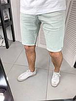 Мужские джинсовые шорты голубого цвета, фото 2