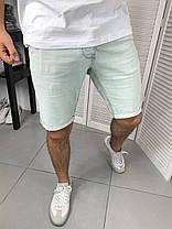Мужские джинсовые шорты голубого цвета, фото 3