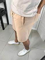 Чоловічі трикотажні шорти бежевого кольору, фото 3