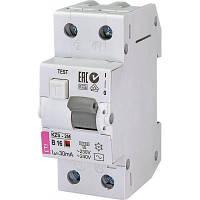 Автоматичний вимикач ETI KZS-2M B 16/0,03 тип AC (10kA)
