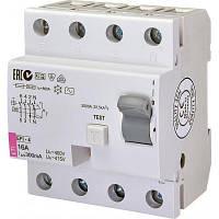 Автоматичний вимикач ETI (УЗО) EFI-4 AC 16/0.3 тип AC (10kA)