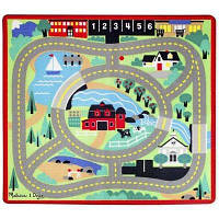 Детский коврик Melissa&Doug Городская дорога с машинками (MD19400)