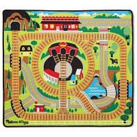 Детский коврик Melissa&Doug Железная дорога с паровозиками (MD19554)