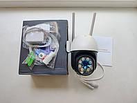 Бездротова Поворотна купольна 3 Мп вулична IP WiFi камера Besder BES-A8-3MP 1536P Onvif. iCSee гарантія, фото 1