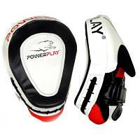 Боксерські лапи PowerPlay 3042 PU Black/White (PP_3042)