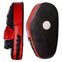 Боксерські лапи PowerPlay 3063 Leath Black/Red (PP_3063_Black_Red)