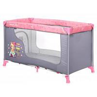 Дитячий манеж Bertoni/Lorelli MOONLIGHT 1L (pink travelling)