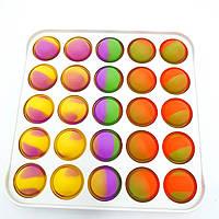 Антистресс игрушка Pop It силиконовый на пластиковой основе Поп Ит Push Up Bubble вечная пупырка