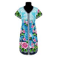 Красивый женский халат купон в цветочном принте с 44 по 70 размер