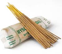 Аромапалочки натуральные индийские благовония Майсорский Сандал Mysore Sandal 250 грамм