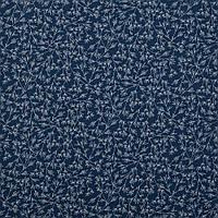 Хлопковая ткань Веточки синяя