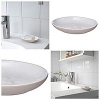 Керамическая мыльница IKEA EKOLN бежевая для ванной комнаты ИКЕА ЕКОЛЬН