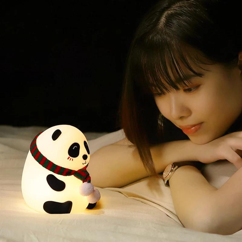 Детский ночной светильник ночник Панда