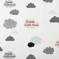 Хлопковая ткань Облачка little dream