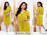 Летнее женское платье лайм (3 цвета) PY/-1038