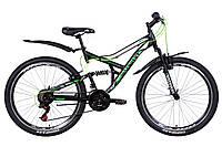 """Велосипед 26"""" Discovery CANYON 2021 (черно-зеленый с белым (м))"""