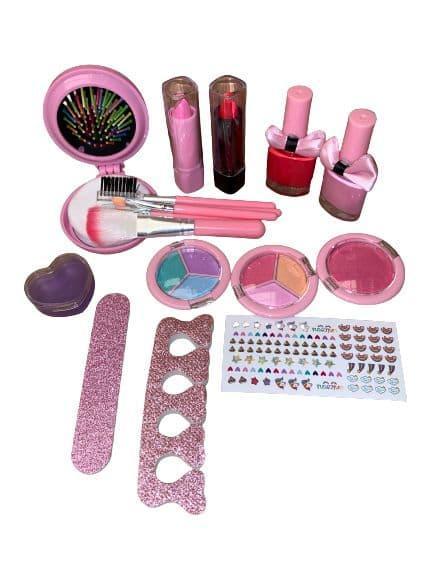 Набор детская косметика в чемоданчике, 20 предметов, помада, лак, тени, фото 2