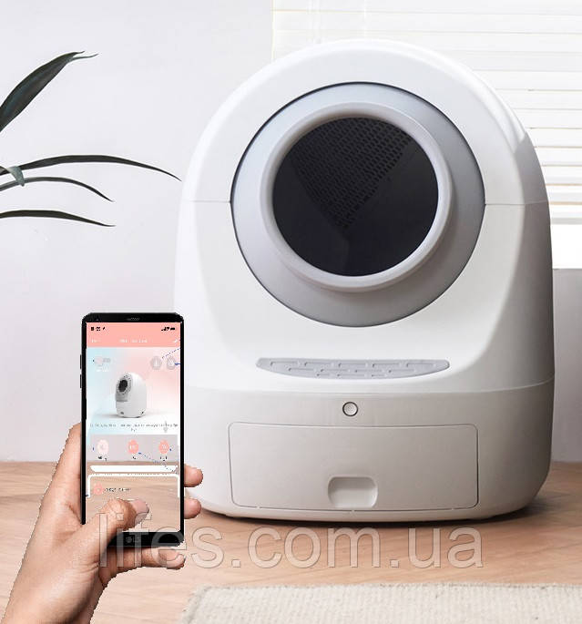 Автоматический туалет для кошек PET MEET 2, WiFi, УФ-стерилизация.