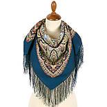 Северное лето 1923-14, павлопосадский платок шерстяной с шелковой бахромой, фото 2