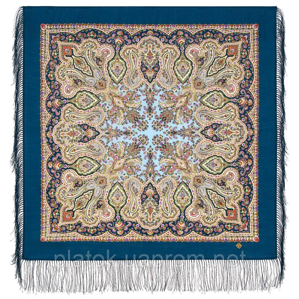 Северное лето 1923-14, павлопосадский платок шерстяной с шелковой бахромой