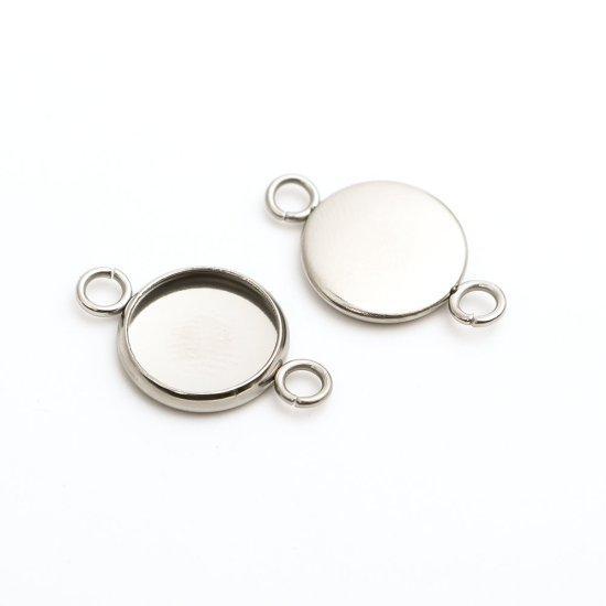 Конектор Finding Кругла Метал Нержавіюча сталь, Основа під вставку 10 мм 20 мм x 12 мм