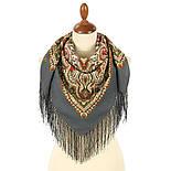 Северное лето 1923-2, павлопосадский платок шерстяной с шелковой бахромой, фото 2