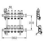 """Колектор з витратомірами SD Forte 1"""" 11 виходів SFE00411, фото 2"""