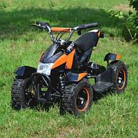 Детский квадроцикл Profi HB-6 EATV 800-2-7 с Фарой (Черно-Оранжевый)