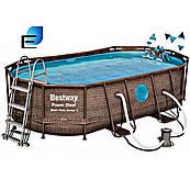 Каркасний басейн Ротанг 56716 (549х274х122) овальний з картриджних фільтрів