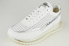 Кросівки білі на платформі Alpino 1081 39 Шкіра