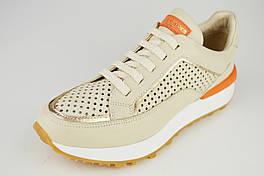Бежеві кросівки перфоровані Alpino 1079 37 шкіра