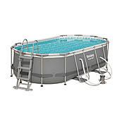 Каркасний басейн овальний Bestway 56620 (427х250х100) з картриджних фільтрів