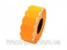 Етикет-стрічка 22*12мм /1000/фігурна помаранчева 7/252рул/ящ