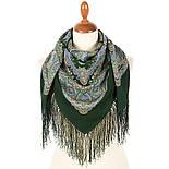 Песенка весеннего дождя 1926-9, павлопосадский платок шерстяной с шелковой бахромой, фото 2