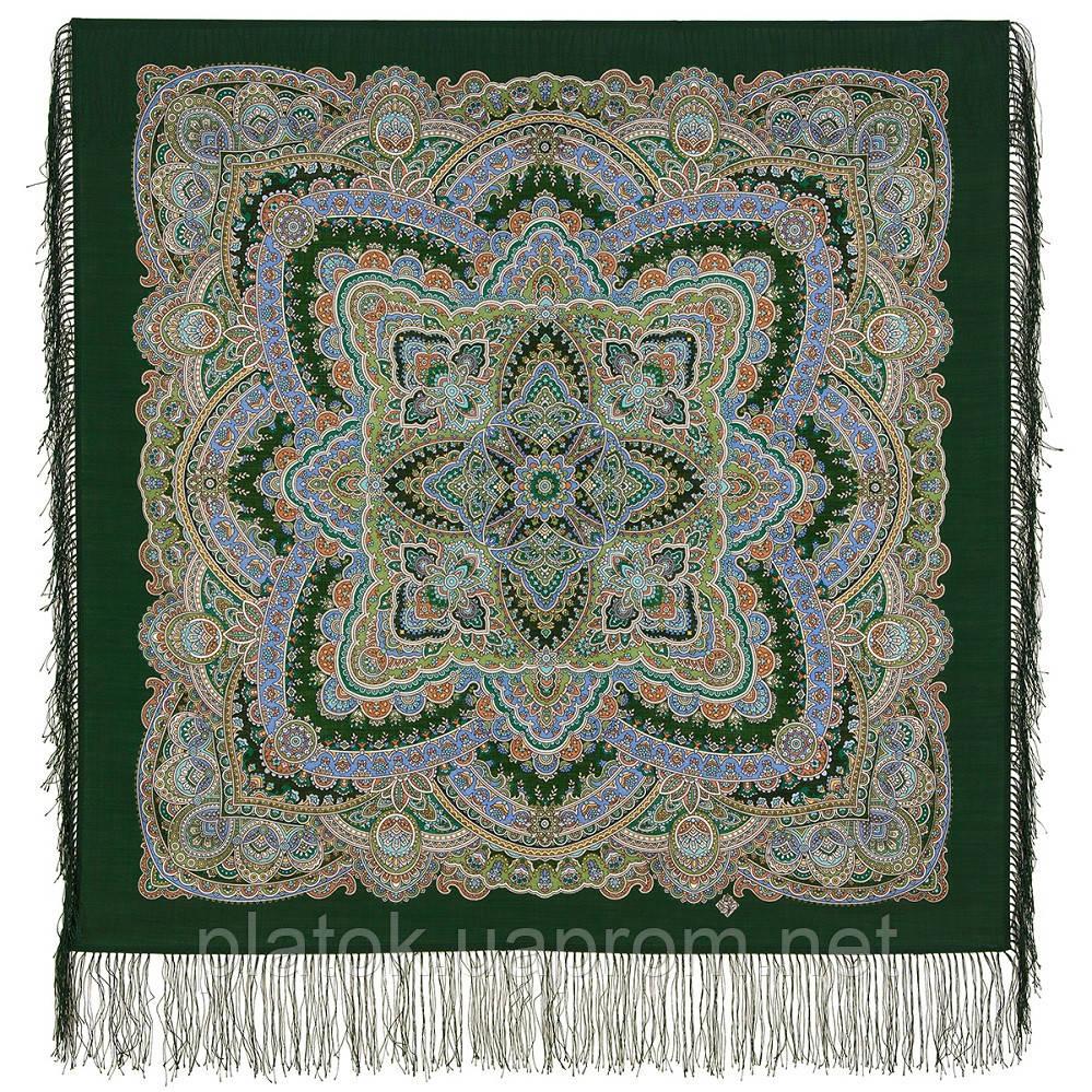 Песенка весеннего дождя 1926-9, павлопосадский платок шерстяной с шелковой бахромой